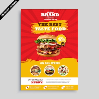 Offre promotionnelle de promotion du hamburger premium vector