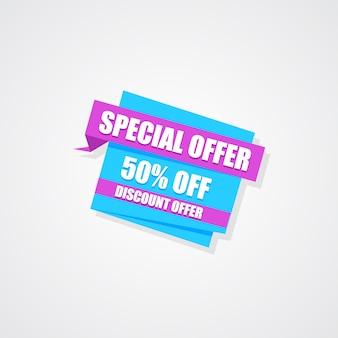 Offre spéciale 50% de rabais sur la bannière