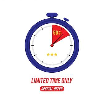 Offre spéciale 50% vente rapide sur minuterie