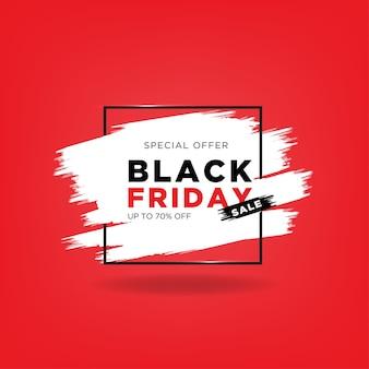 Offre spéciale black friday avec pinceau et rectangle brillant