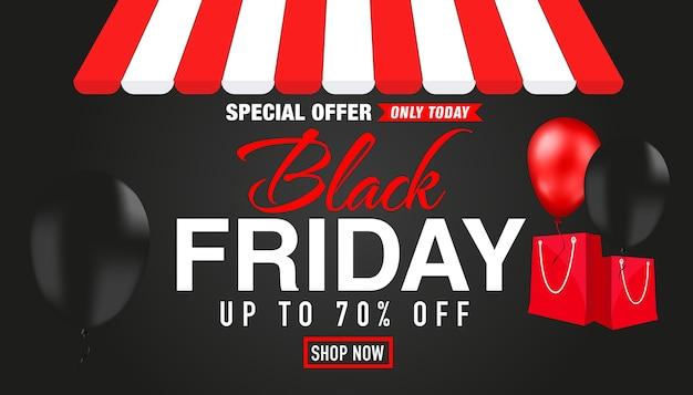 Offre Spéciale Black Friday Seulement Aujourd'hui Vecteur Premium