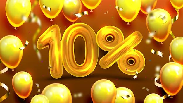 Offre spéciale marketing de dix pour cent ou dix