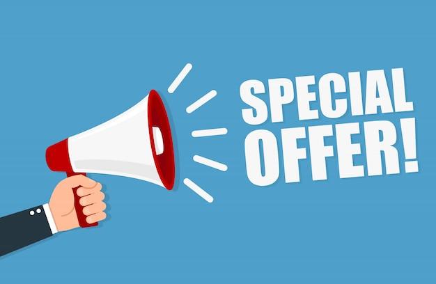 Offre spéciale mégaphone illustration