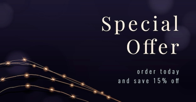 Offre spéciale messages marketing modifiables avec lumières filaires festives