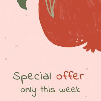 Offre spéciale seulement cette semaine modèle de vente d'été