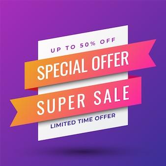 Offre spéciale super vente bannière