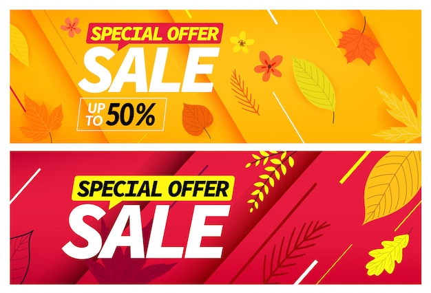 Offre spéciale de vente d'automne,