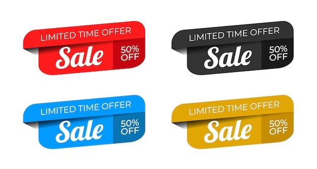 Offre spéciale de vente et conception d'étiquettes de prix vecteur premium