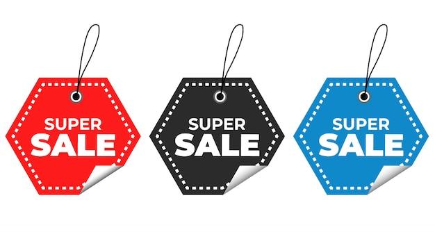 Offre spéciale de vente et étiquettes de prix