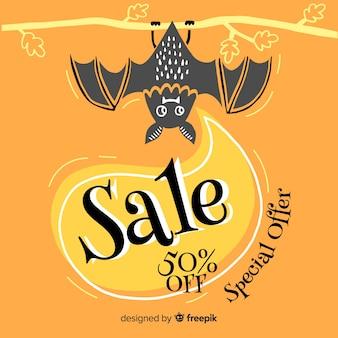 Offre spéciale vente de halloween dessinée à la main