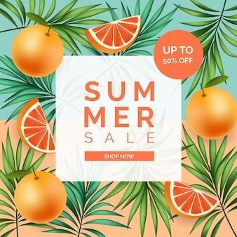 Offre de vente d'été colorée