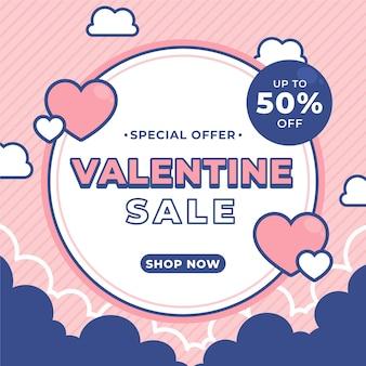 Offre de vente plat saint-valentin