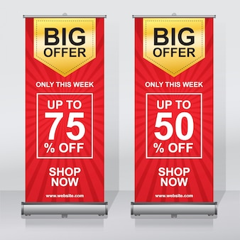 Offre de vente roll up banner design