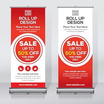 Offre de vente roll up banner