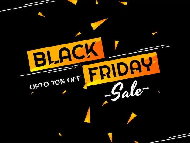 Offre de vente vendredi noir et arrière-plan des offres