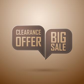 Offre de vente vintage bulle vieux design marron rétro. illustration