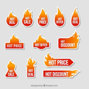 Offres collection de stickers de feu
