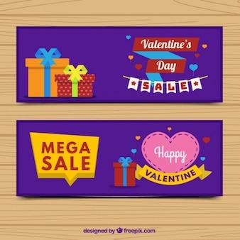 Offres valentines bannières