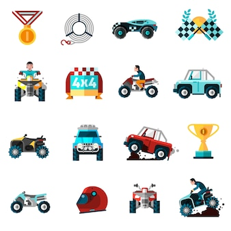 Offroad icons set