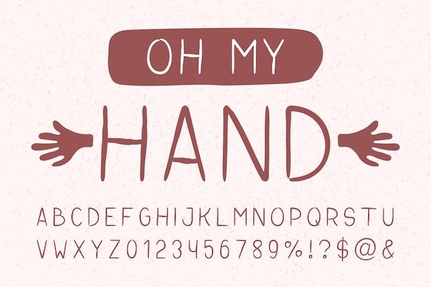 Oh ma main sans empattement