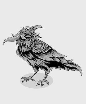 Oiseau corbeau