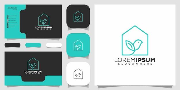 Oiseau avec création de logo de maison