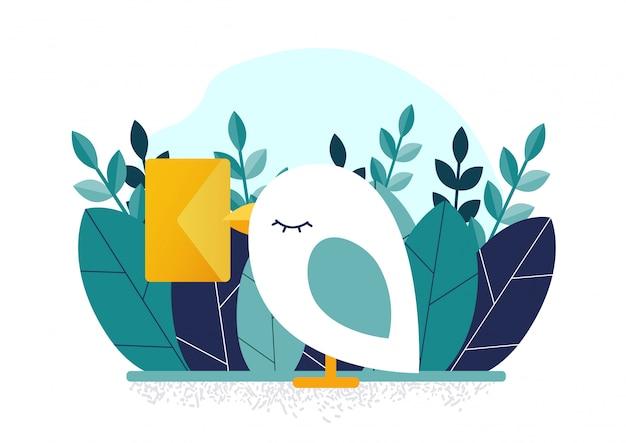 Oiseau et lettre