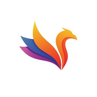 Oiseau logo abstrait vector