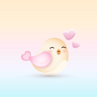 Oiseau mignon
