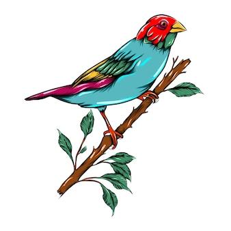 L'oiseau perché sur la branche de l'arbre