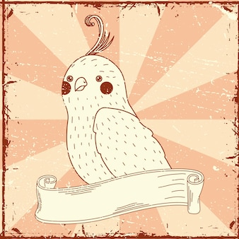 Oiseau en ruban
