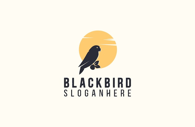 Oiseau silhouette logo vector illustration