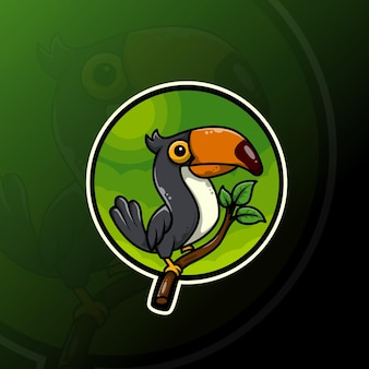 Oiseau toucan mignon