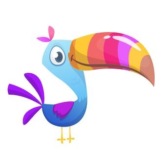 Oiseau tucan de dessin animé