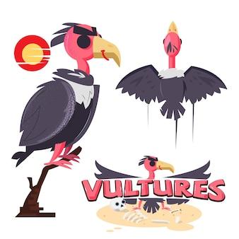 Oiseau vautour serti de logo