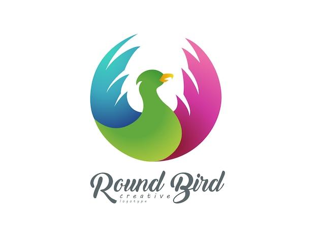 Oiseau volant rond logotype