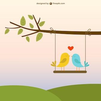 Oiseaux dans l'amour