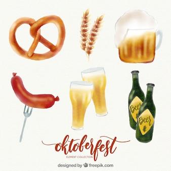 Oktoberfest, 6 éléments peints à la main