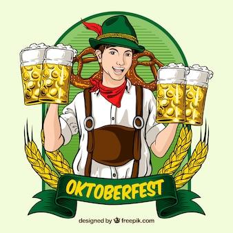 Oktoberfest, badge à la bière