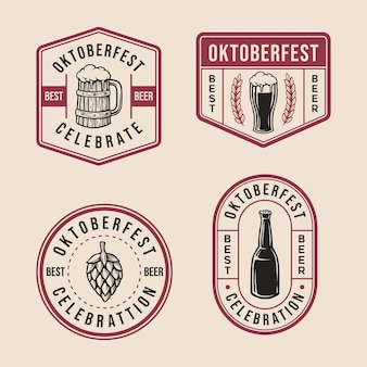Oktoberfest badge logo collection