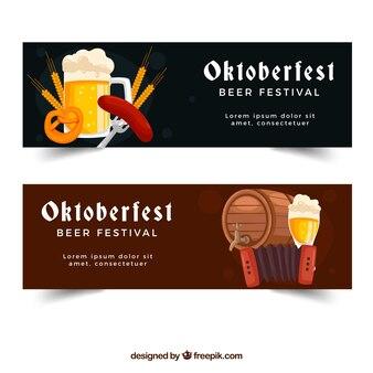 Oktoberfest, deux bannières