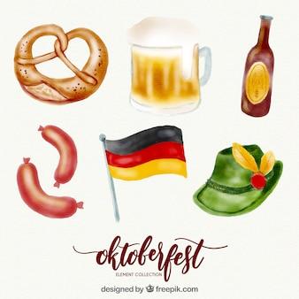Oktoberfest, éléments peints à la main