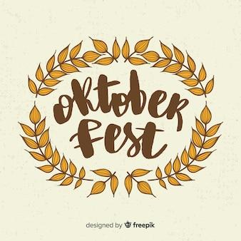 Oktoberfest lettrage de fond avec des éléments