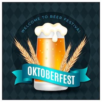 Oktoberfest réaliste avec pinte
