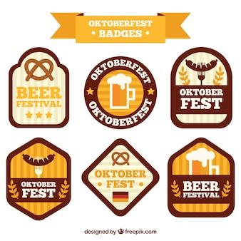 Oktoberfest, six badges plats