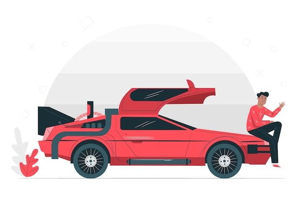 Old illustration concept