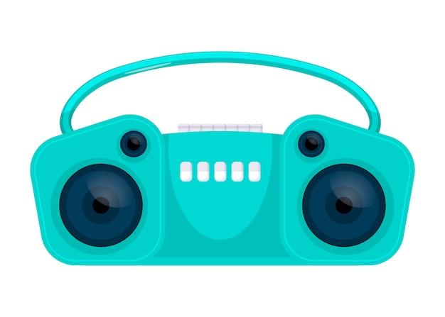 Old retro media music et radio player. illustration vectorielle. conception d'icône plate. isolé