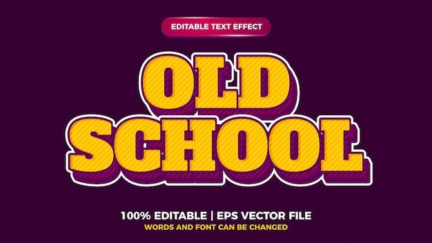 Old school strong effet de texte vintage rétro pop art audacieux pour le style ancien