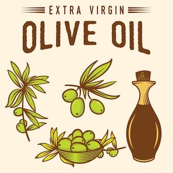 Olive design fond d'huile
