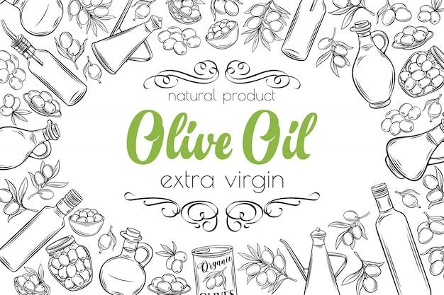 Olives de croquis dessinés à la main